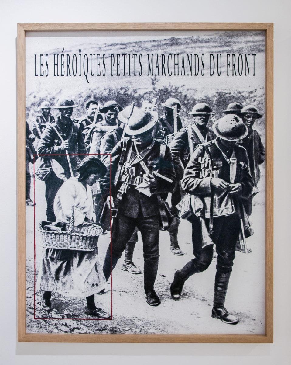 Cadrage (2), Les héroïques petits marchands du front. Image de presse, 1918 - Galerie Imane Farès